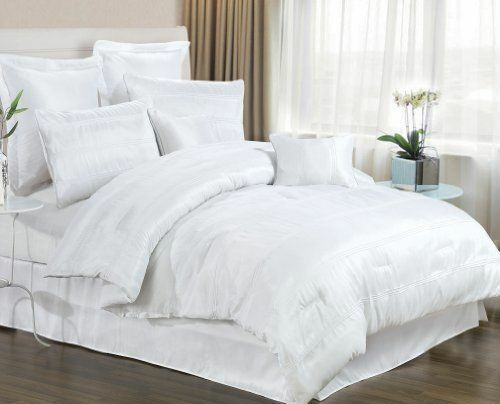 8 Piece White Bedding Set Includes Comforter King Queen Size Available Ebay