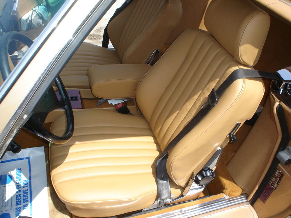 Mercedes Sl R107 380sl 560sl Leather Seat Covers Kit 81 89