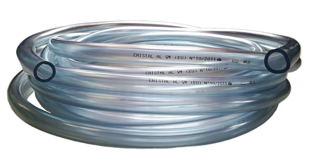 Clear flexible pvc tube air water hose pipe 3mm to for Garden pond hose