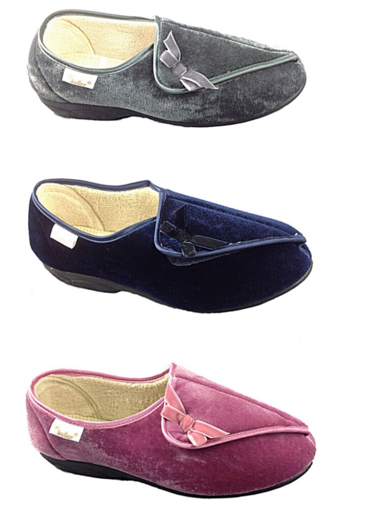 Wide Fitting Velcro Shoes For Womens