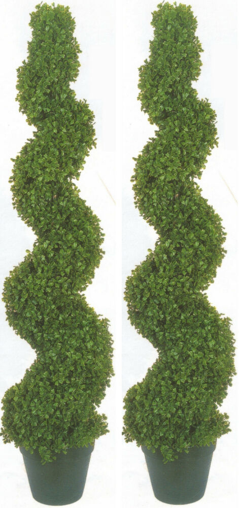 2 BOXWOOD SPIRAL TOPIARY ARTIFICIAL OUTDOOR UV TREE 4 39 2
