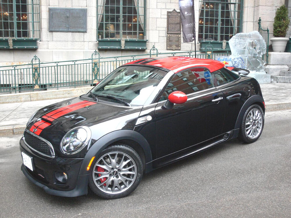 mini cooper coupe 5 2 color sport rally stripes stripe decals graphics ebay. Black Bedroom Furniture Sets. Home Design Ideas