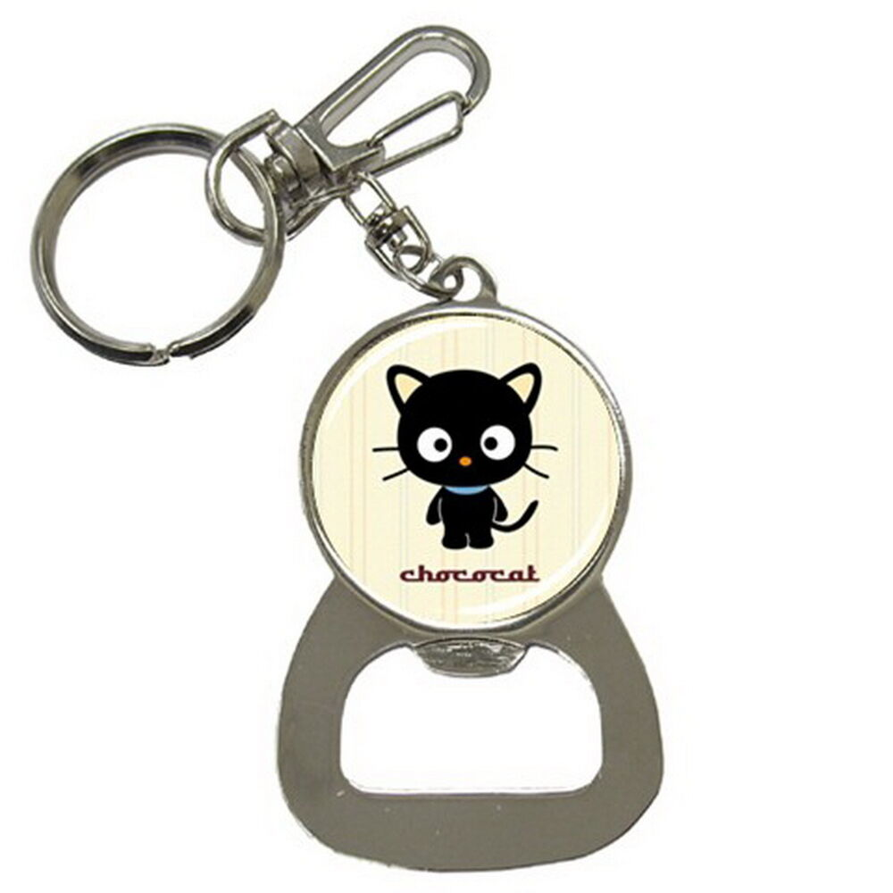 chococat cute key ring key chain beer soda bottle cap opener gift hot new ebay. Black Bedroom Furniture Sets. Home Design Ideas