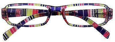 reading glasses pink clear stripe stylish spectacles in