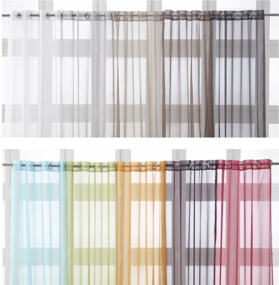 Eyelet Ring Top Voile Net Curtain Panel Extra Long 135 X 240cm 53 X 94 Ebay