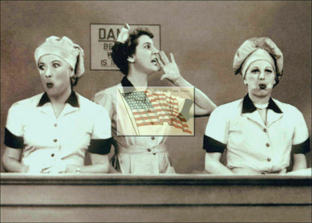 Reprint Picture I Love Lucy Lucy And Ethel Working Candy