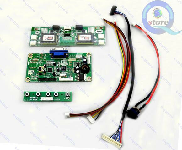 lcd controller board diy kit rtmc1b vga turn a laptop lcd to a desktop monitor ebay. Black Bedroom Furniture Sets. Home Design Ideas