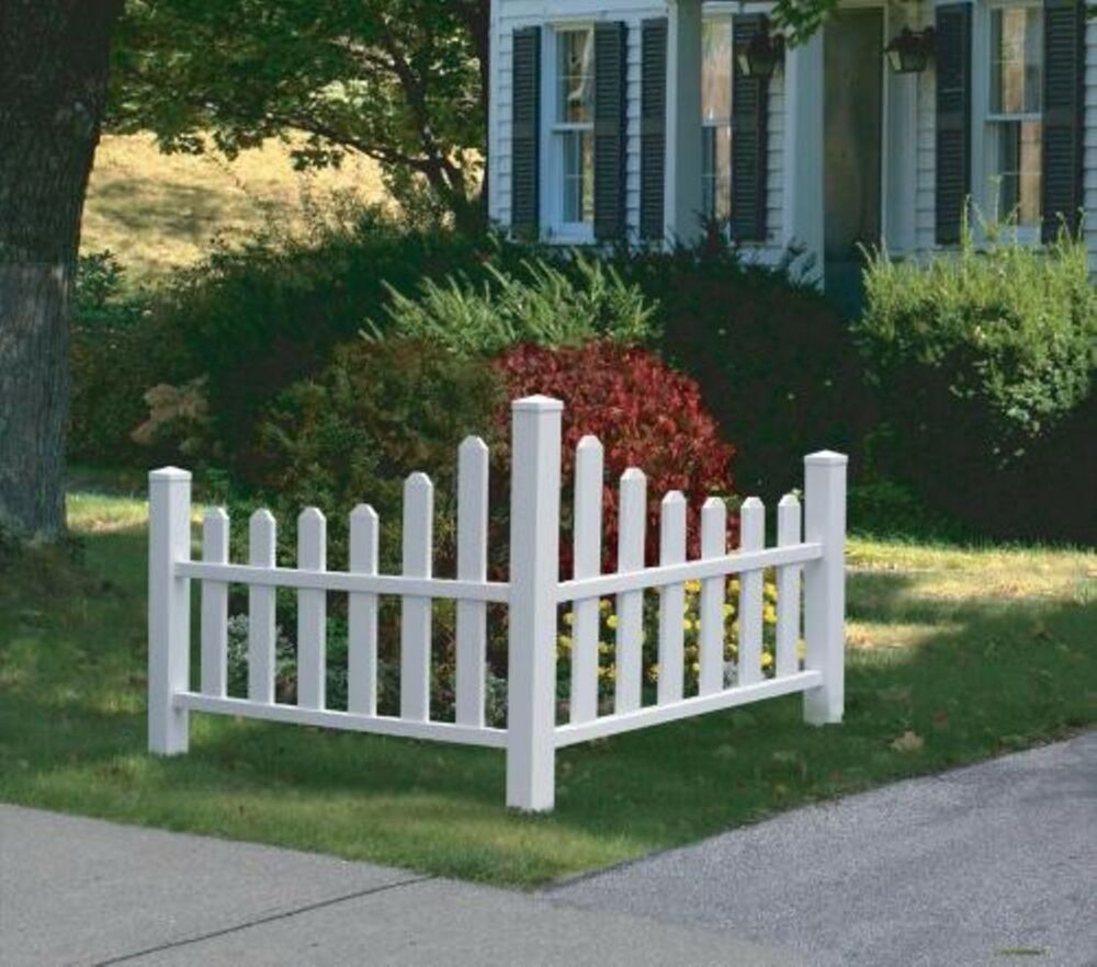 Decorative Vinyl Outdoor Country Corner White Picket Fence W  20 Year Warranty