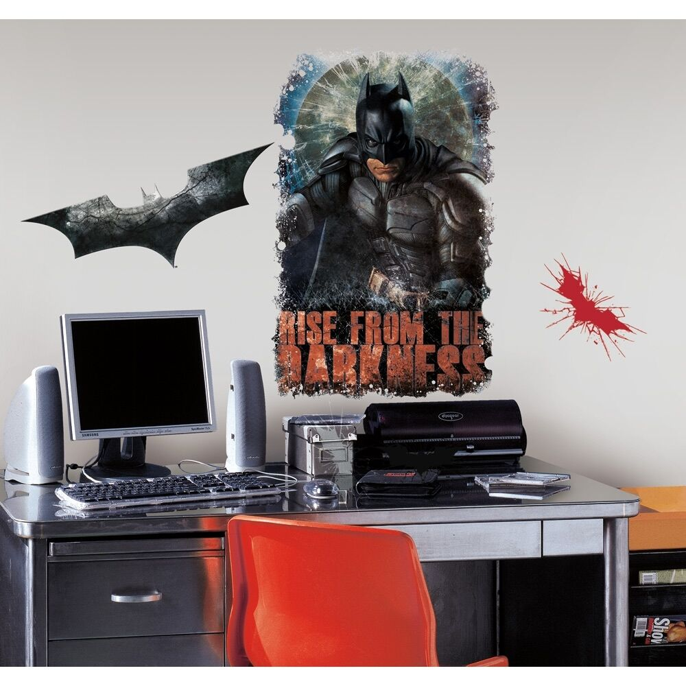 New batman dark knight rises wall decals boys bedroom for Dark knight rises wall mural