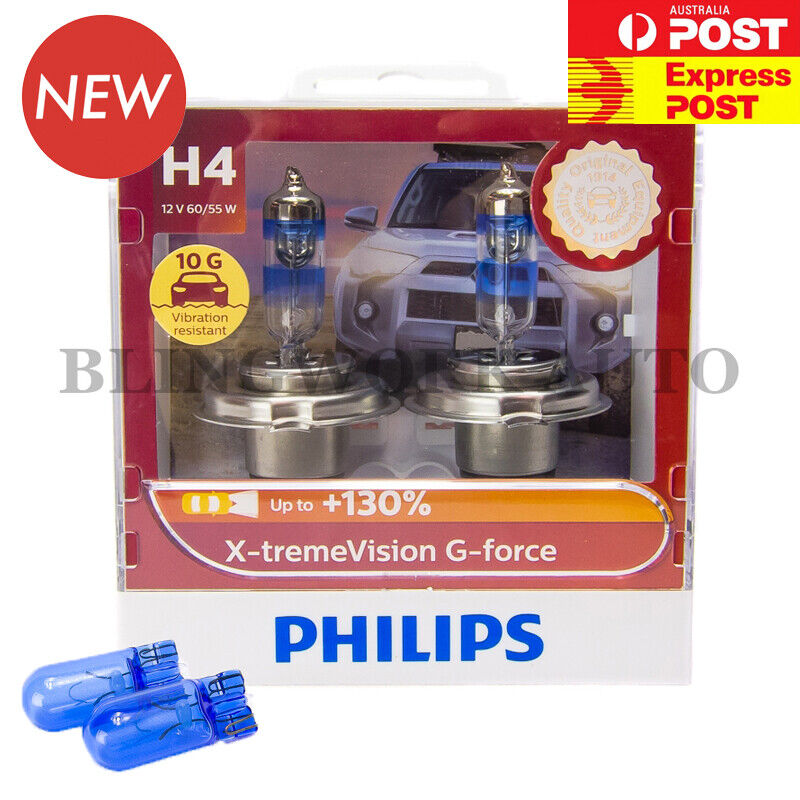 Aus Version Philips H4 X Treme Vision Plus 130 Halogen Light Bulbs Extreme Ebay