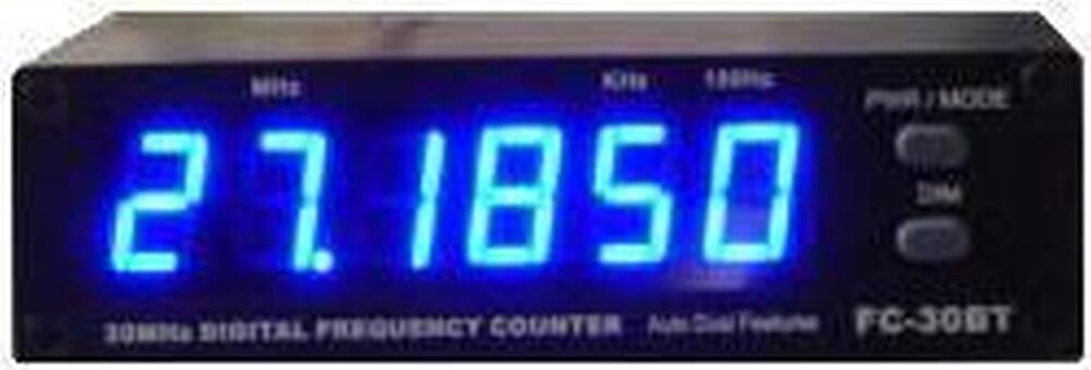 Cb Frequency Counter : Am ssb sideband cb ham radio fc bt blue frequency counter