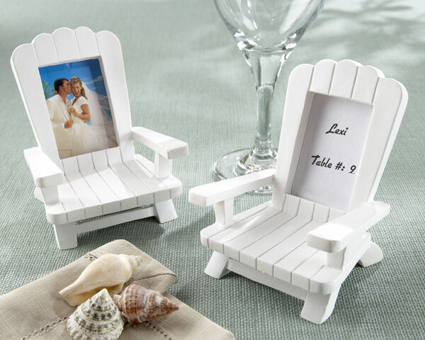 72 beach theme mini adirondack chair wedding place card holder photo frame favor ebay. Black Bedroom Furniture Sets. Home Design Ideas