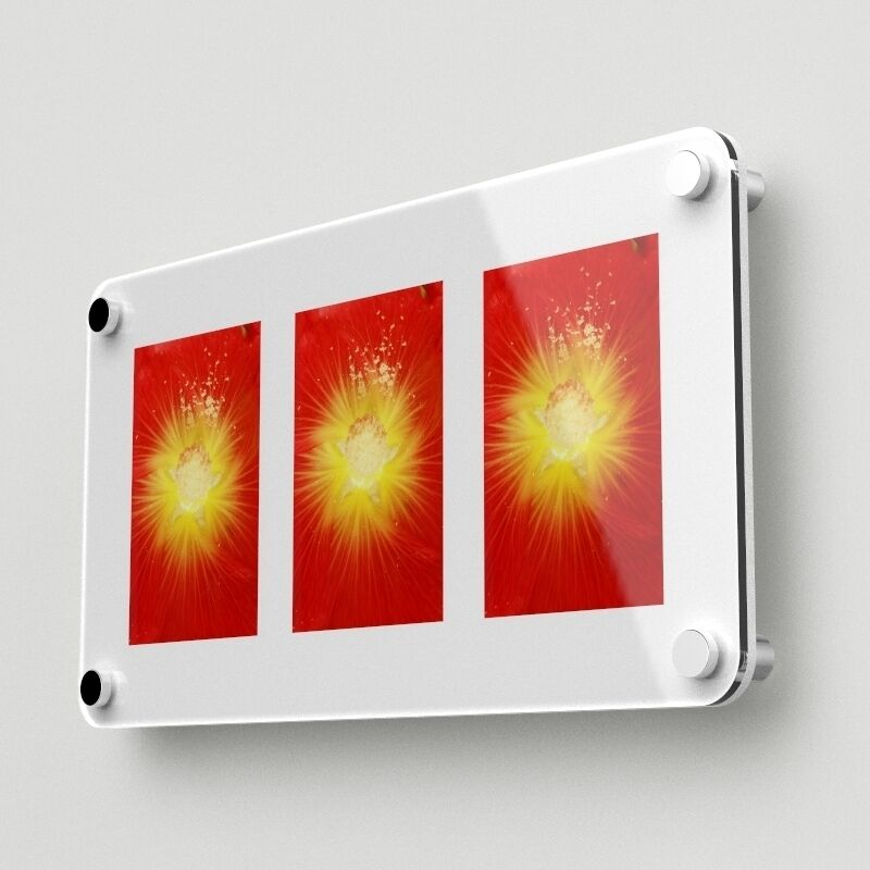 modern acrylic multi picture frame holds three 4 x6 photos 0011 029 ebay. Black Bedroom Furniture Sets. Home Design Ideas