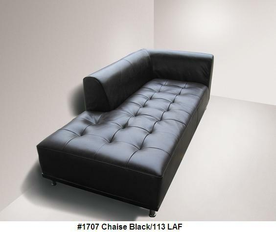 Elegant Models Of Contemporary Sofa 1 Piece Modern Elegant Design Leather Sofa Or Chaise In Black Leather 1707
