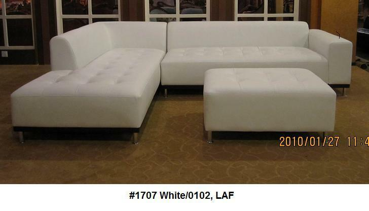 modern contemporary white leather sectional sofa chaise 2 pieces set