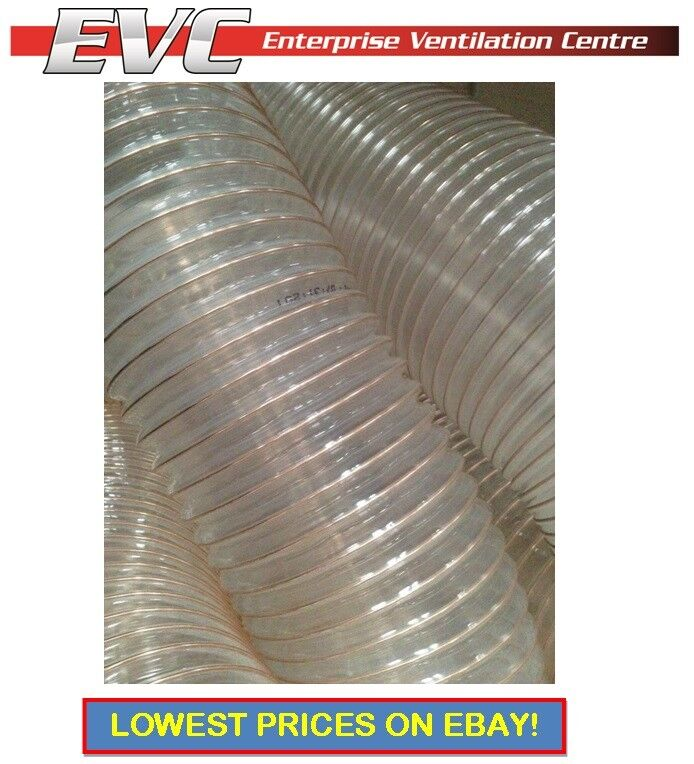 6 In Flexible Duct Hose : Pu flexible ducting hose ventilation fume dust