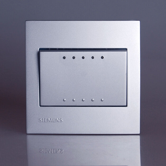 Siemens modern design light switch socket azio siliver 1 2 3 4 gang 2 way 16a ebay - Modern switches and sockets ...