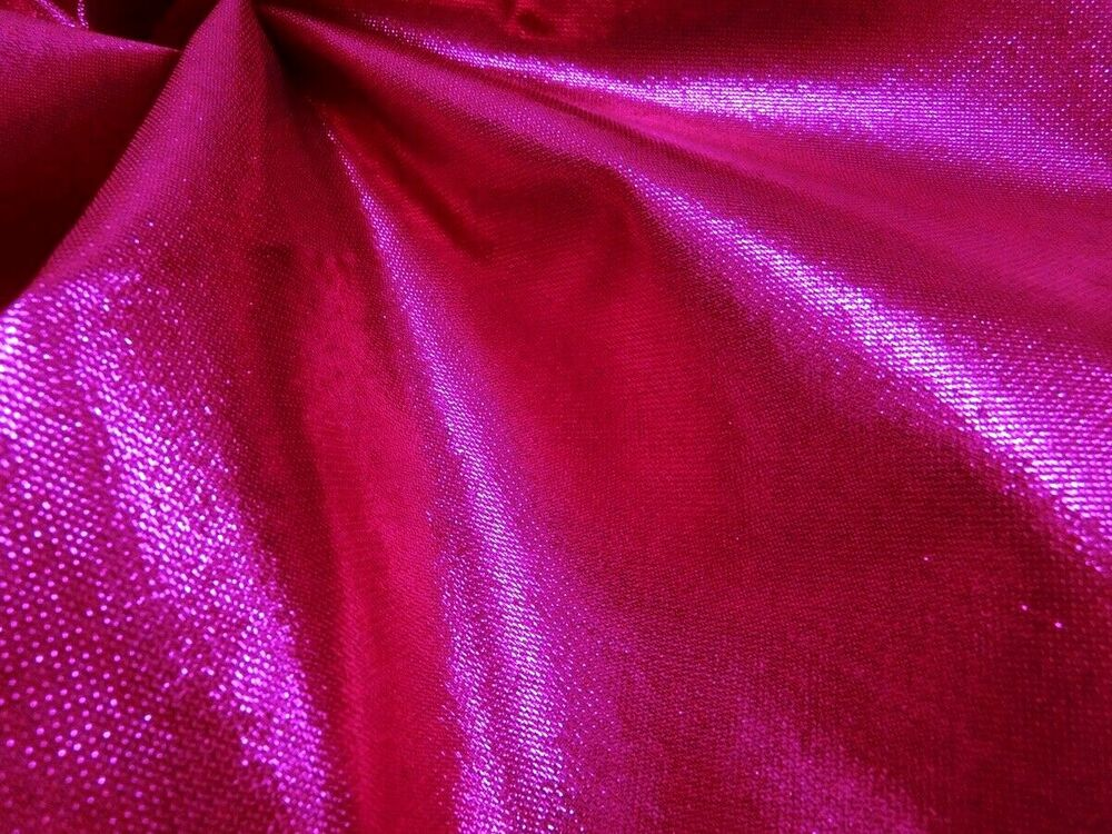 Hot pink metallic sparkle fabric wedding scarf dress decor for Sparkly material