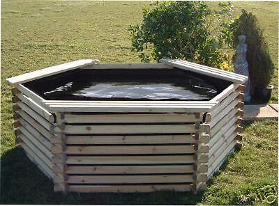 Garden pond 400 gallon liner koi pool tank fish ebay for Outdoor fish ponds for sale