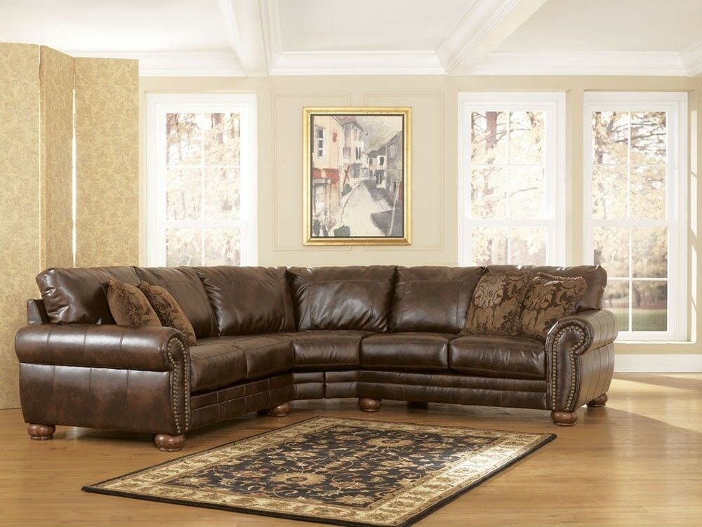 durablend antique sectional signature design by ashley furniture ebay. Black Bedroom Furniture Sets. Home Design Ideas