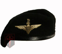 Medium Cadet Black Beret + Parachute Regiment Cap Badge