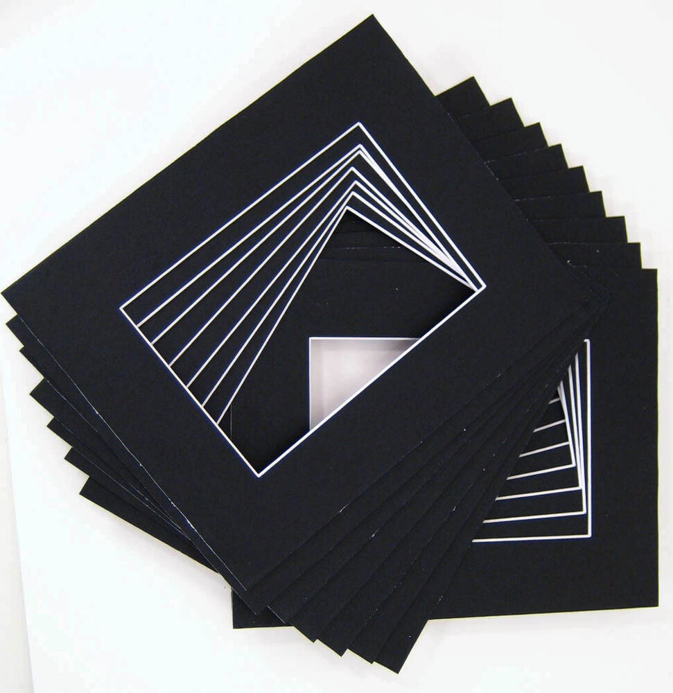 16x20 For 11x14 Black Mat With Whitecore 100 Pack Ebay