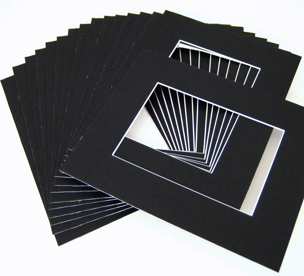 16x20 For 12x16 Black Mat With Whitecore 100 Pack Ebay