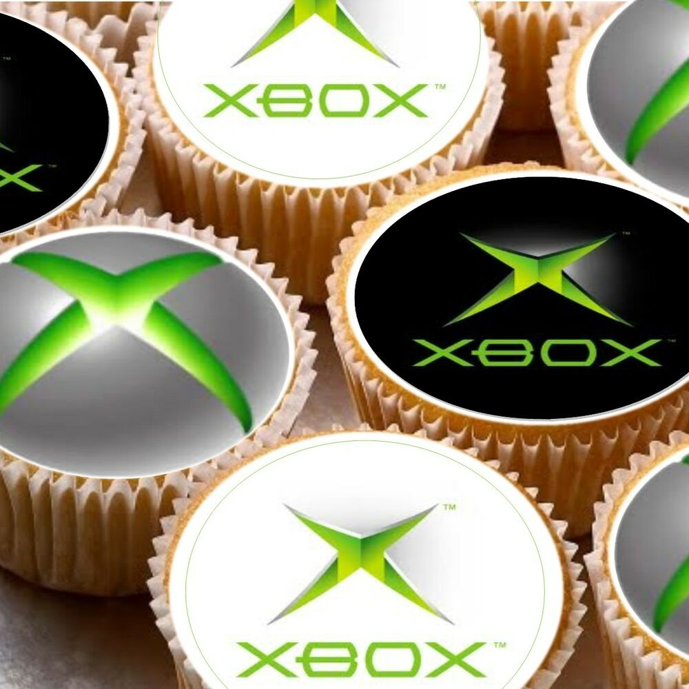 Classroom Decoration Ideas Xbox One ~ Icing cake toppers decorations box xbox logo ebay