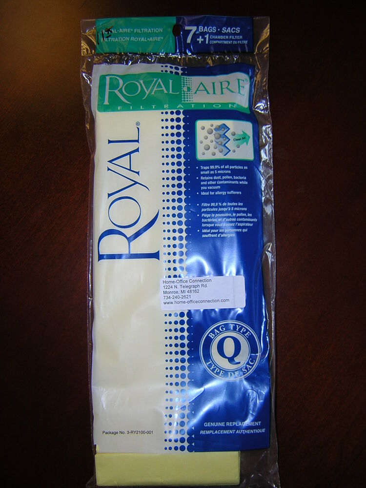 Royal Type Q Tank Canister Cleaners Paper Disposable
