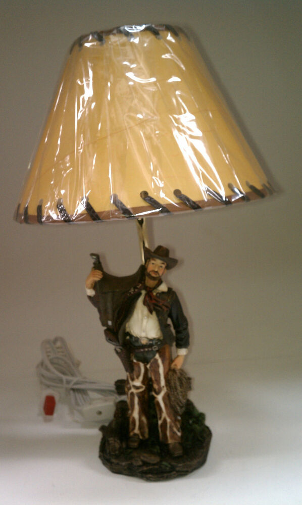 Cowboy Lamp Lamps W Shade Western Saddle Boots Bridle
