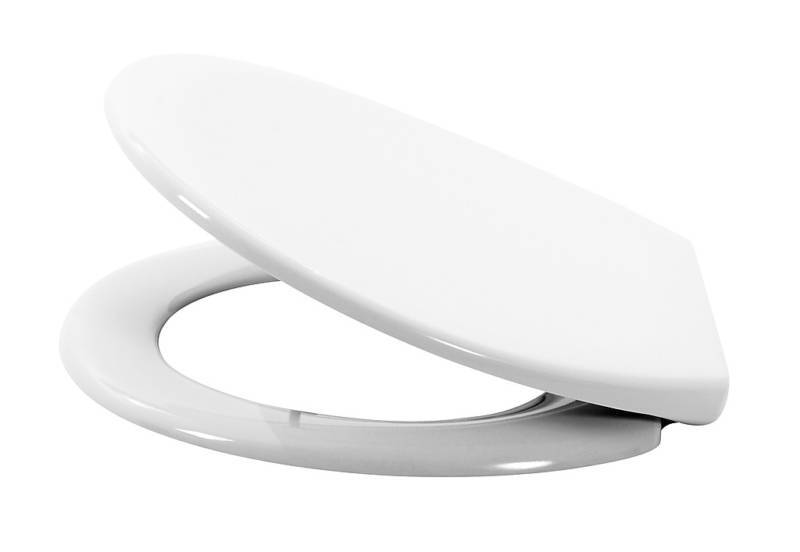 Soft Close White Wc Toilet Seat With Stainless Steel