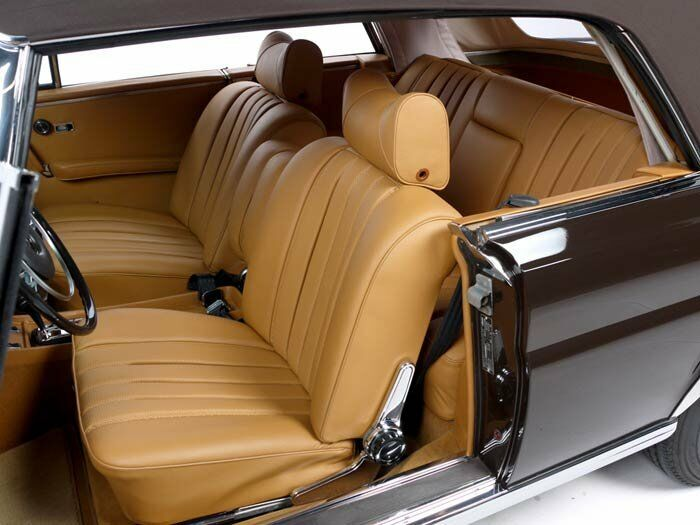 Mercedes W111 Leather Front Seat Covers Coupe Convertible