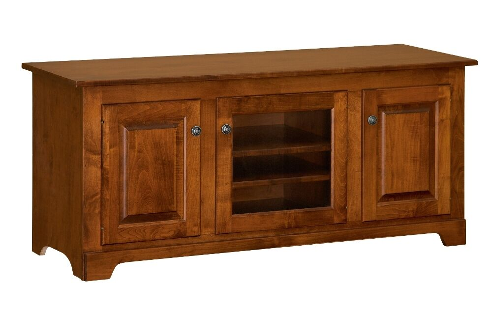"Amish Solid Wood TV Stand Console Cabinet 56"" Media"