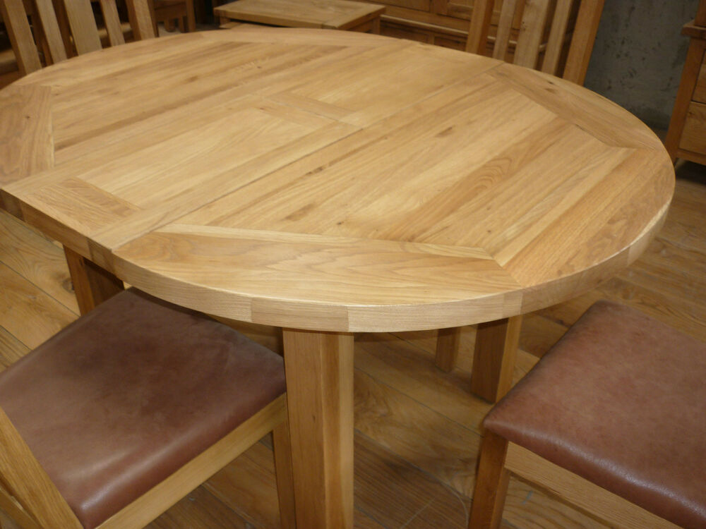 vancouver petite oak table 110cm round extends to 140cm oval nb082 ebay. Black Bedroom Furniture Sets. Home Design Ideas