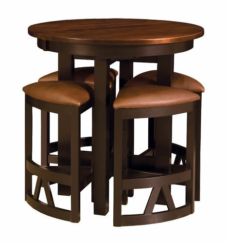 Amish Pub Table Chairs Set Bar Height High Dining Stools