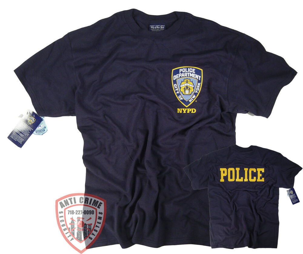 4ca445ebd NYPD T-Shirt Officially Licensed by The New York City Police Department |  eBay