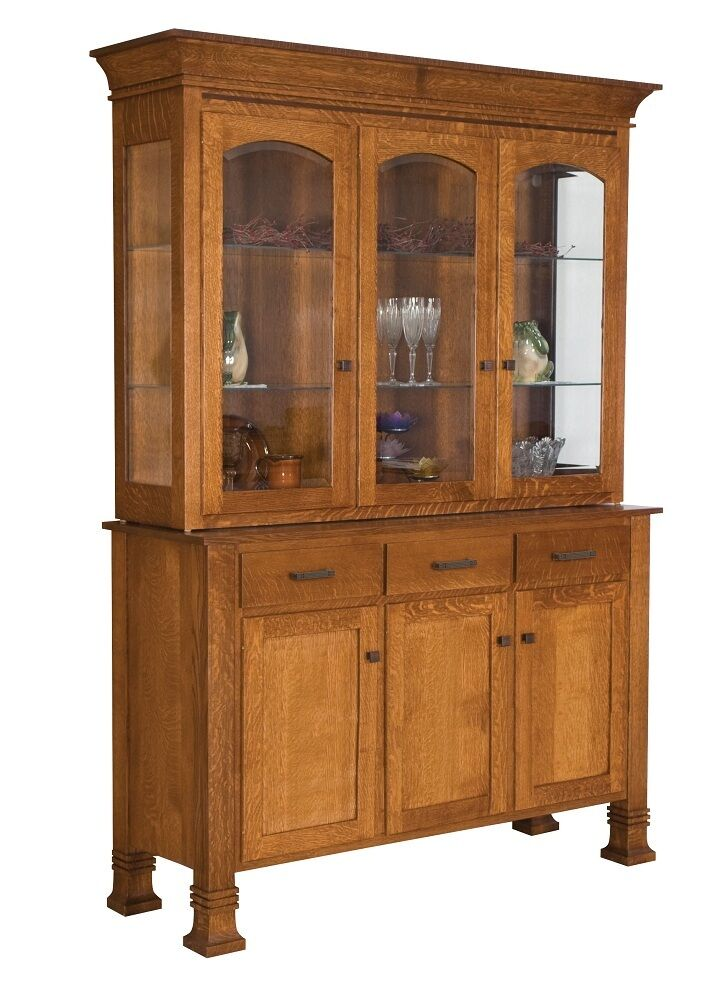 Amish Hutch Dining Room Buffet Server China Cabinet