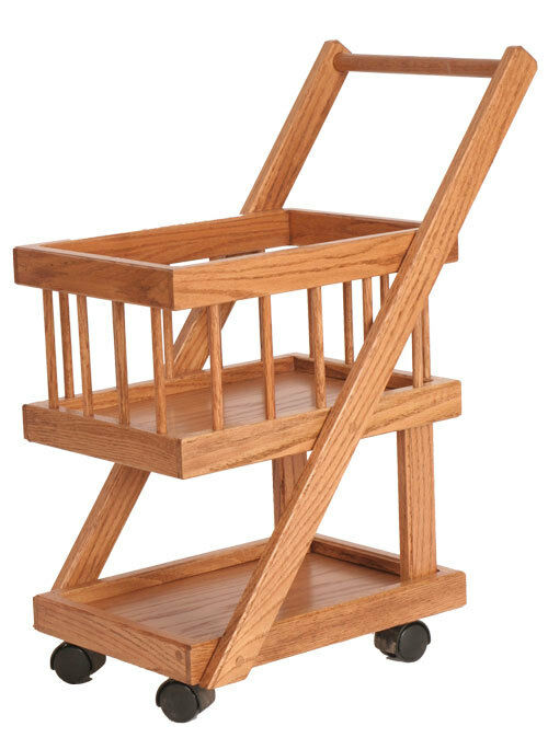 Kids play shopping grocery cart pretend store solid wood for Woodworking cart