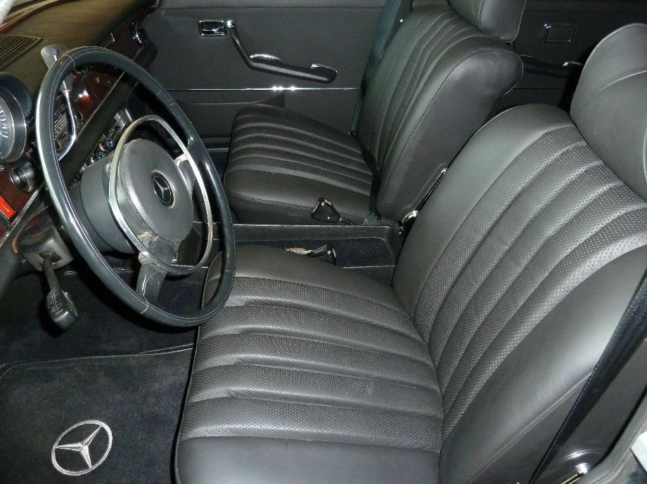 Mercedes w108 250s se 280s 280se 280sel 4 5 leather for Mercedes benz replacement seat covers