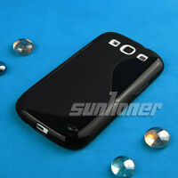 TPU S Black Color Silicon Case Skin Cover for Samsung Galaxy s3 , SCH-T999,S iii
