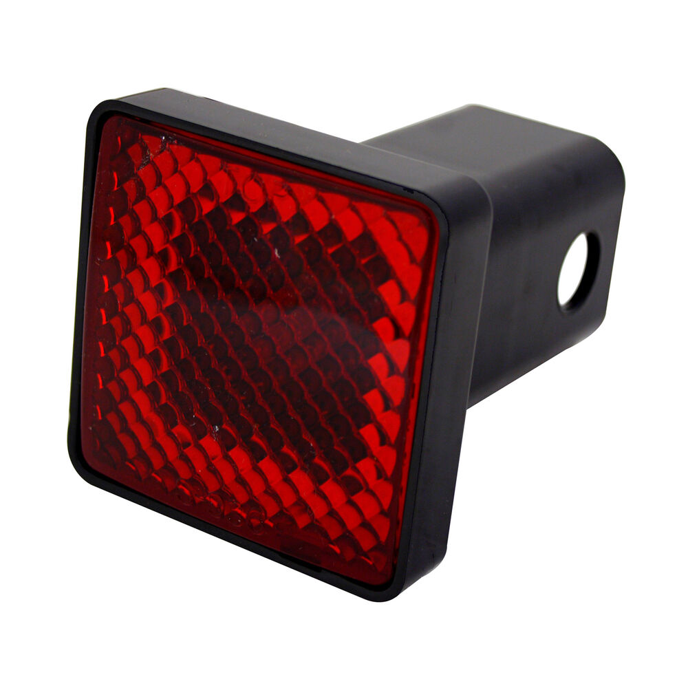 Third Brake Light Covers : Square third brake light hitch cover quot receivers red led