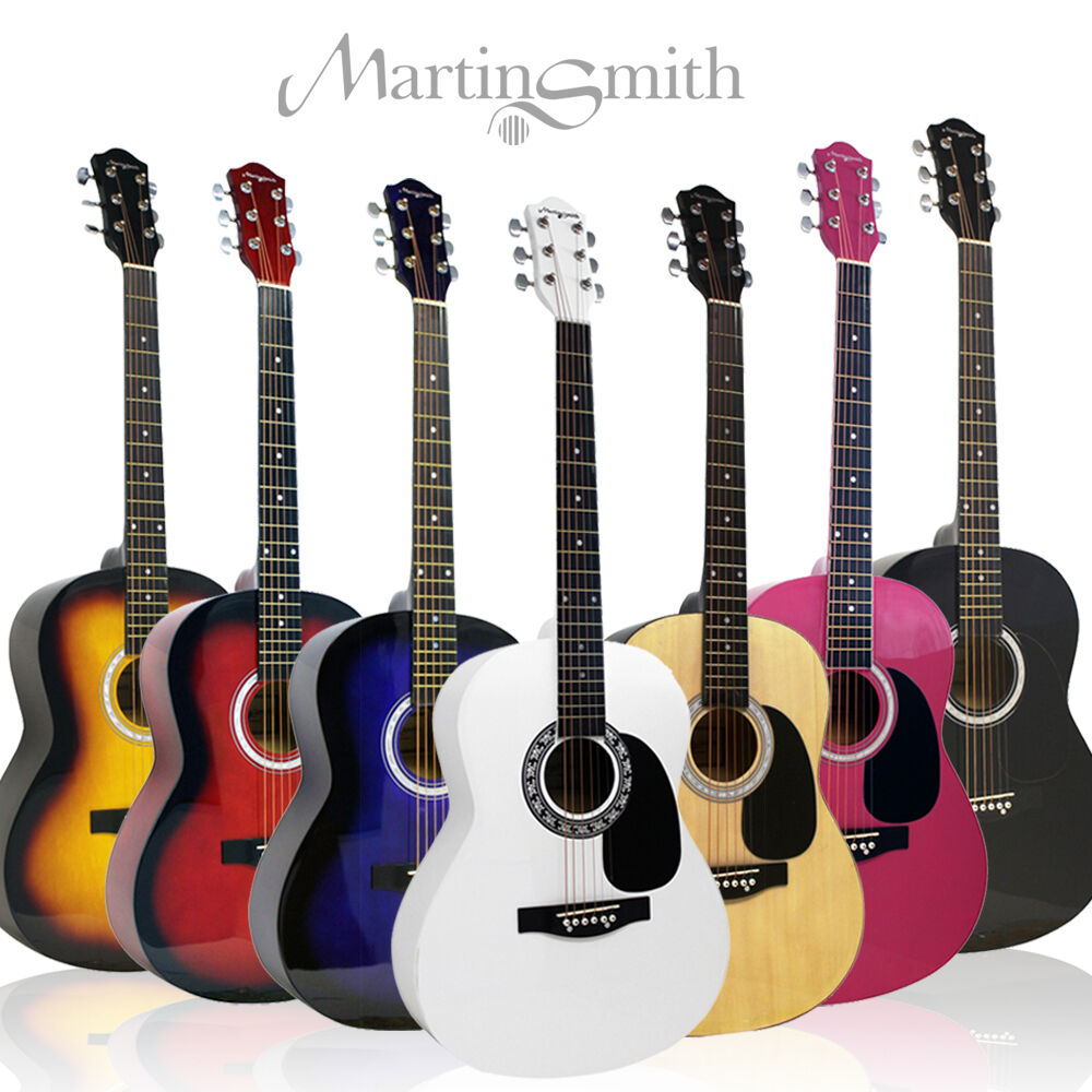 martin smith full size acoustic guitar right left hand steel strung pack ebay. Black Bedroom Furniture Sets. Home Design Ideas