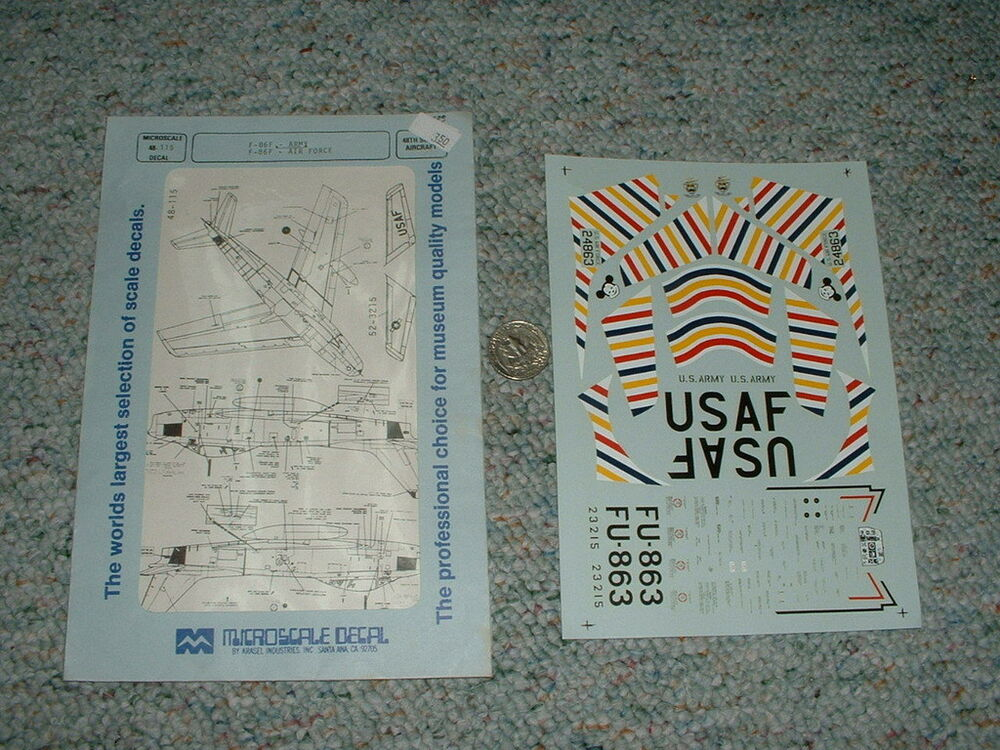 Superscale Decals 1 48 48 115 F 86f Army Air Force A48 Ebay
