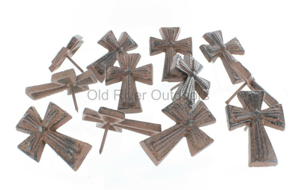 12 cast iron cross nails craft tack pin nail for Decorative pins for crafts