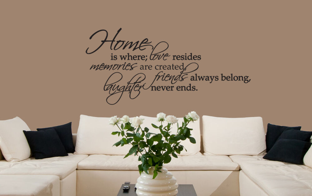 Home Is Where Love Resides... Vinyl Wall Decal Quote