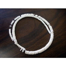 Graduated White Clam Shell Heishi Beads (16 Inches Strand)