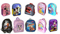 Kids Boys & Girls Disney Character Backpack Rucksacks School Shoulder Bags New