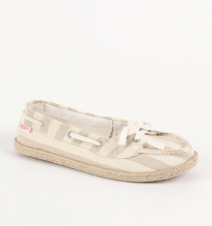 Womens White Canvas Boat Shoes