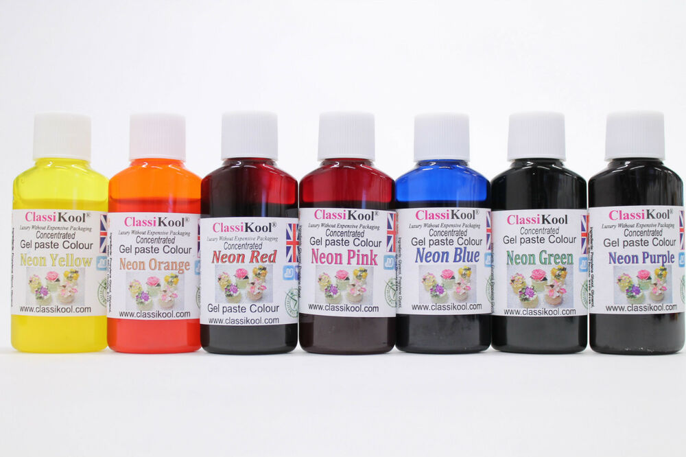 Classikool 30ml Neon Gel Food Colouring Sugarpaste Icing Dye: Any 1 ...