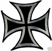 IRON CROSS, chopper biker embroidered patch/badge